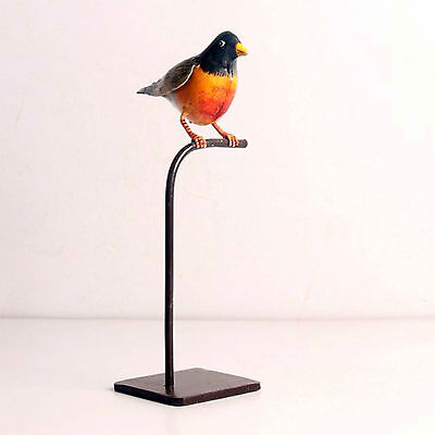 Rare Colorful Iron Bird On Stand Hand Made Hand Painted Home Décor-Ebay3966Rb-9