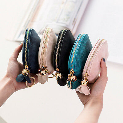 LadiesLeather Small Mini Wallet Card Key Holder Zip Coin Purse Clutch Bag UK