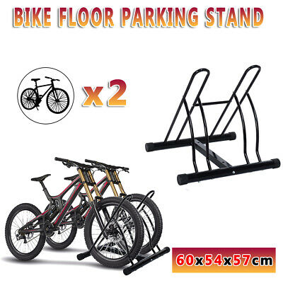 1-2 Bike Floor Parking Rack Instant Storage Stand Bicycle Cycling Portable Black