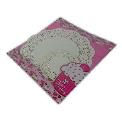 36 Pack Paper Doilies  - New Doyleys Doily Mat Dining Table Dinner Doilie Plate