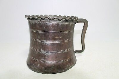 Antique Old Cooper Turkish Ottoman  Canteen Flask Keg For Water Jug