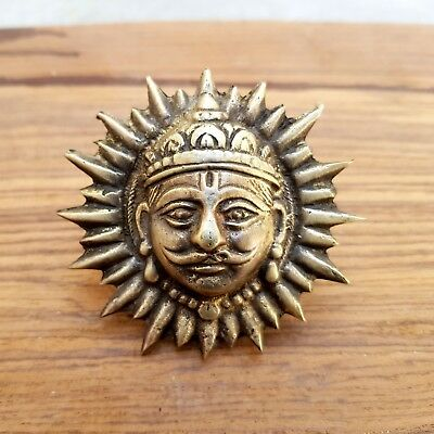 Rustic Cast Brass Antique Style LORD SUN Logo Shield Monogram Multi use #22