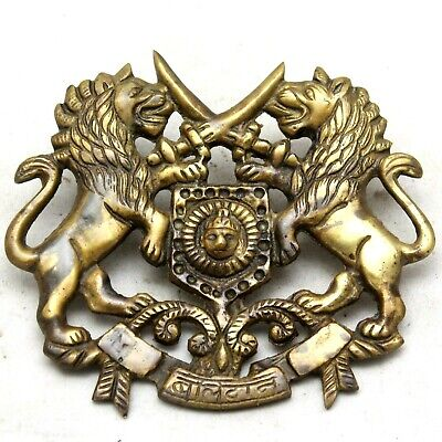 Rustic Cast Brass Antique Style ROYAL MARTYR Coat of Arm Multi use #25