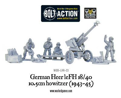 Warlord Games - Bolt Action - German Heer leFH 18/40 10.5cm howitzer (1943-45)