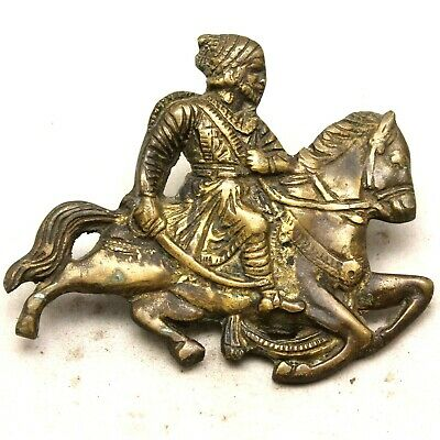 Rustic Cast Brass Antique Style KING SHIVAJI Logo Shield Monogram Multi use #29