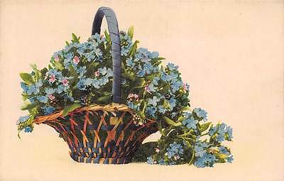 Myosotis Forget-me-Not Flowers Basket, Martin Rommel Co. Stuttgart