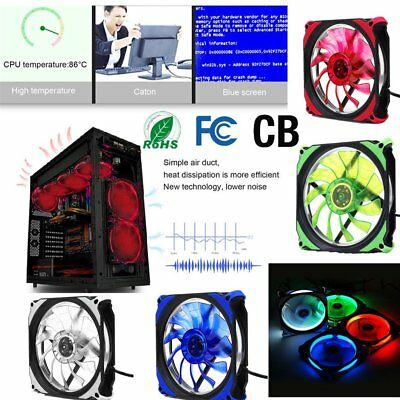 DC 12V 120mm 3 Pin + 4 Pin LED Brushless PC Computer Case Cooler Cooling Fan lot
