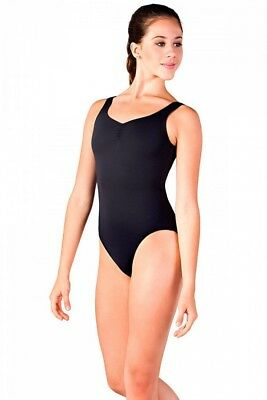 (Black, Small) - So Danca Ladies Sleeveless Polka Dot Mesh Leotard. Brand New