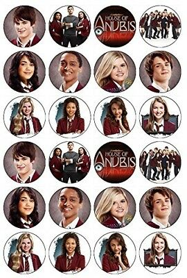 24 House of Anubis Edible Wafer Paper Cup Cake Toppers. CakeThat. Huge Saving
