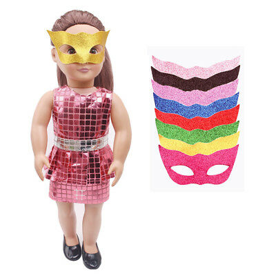 8 Pieces Handmade Fashion Party Mask for 18'' American Girl Doll Clothing