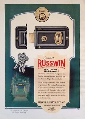 1930 Ad(H5)~Russell & Erwin Mfg. Co. New Britain, Conn. Russwin Hardware
