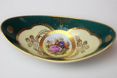 "Beautiful Western Germany "" Romance"" Small Oval Dish Look!!"