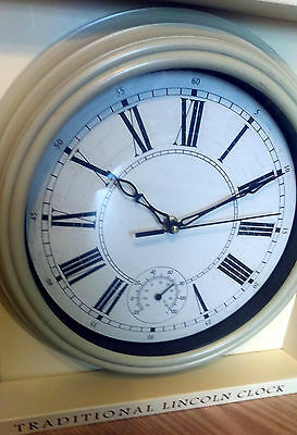Lincoln Weather Station Temperature Dial 30cm  Shabby Chic Distressed Cream