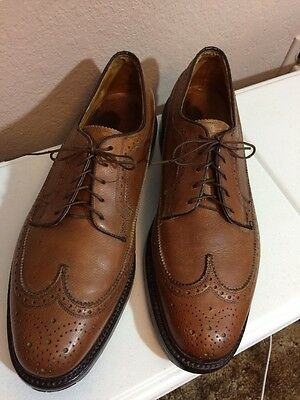 """Vintage Florsheim imperial Wingtip Cognac 10.5 C Men's Shoes """