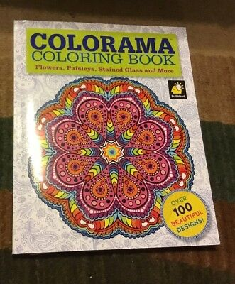 Colorama Adult Coloring Book Set Flowers Paisleys