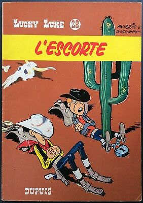 LUCKY LUKE Tome 28 L'Escorte EO 1966 Excellent état