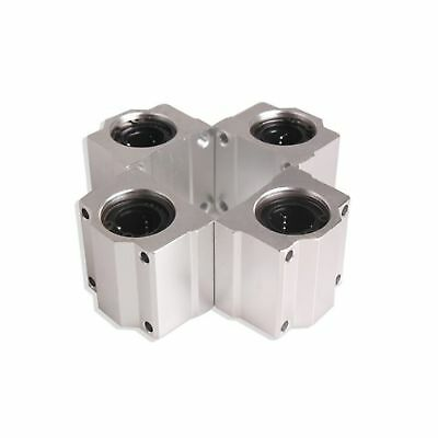 Vktech 4 Pcs SC20UU 20mm Aluminum Linear Motion Ball Bearing Slide Bushing fo...