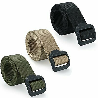 Men's Tactical Military Combat Nylon Canvas Belt Plastic Buckle Strap Waistband