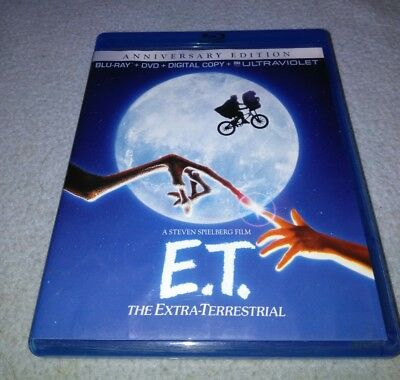 E.T. The Extra-Terrestrial (Blu-ray/DVD, 2012, 2-Disc Set, Anniversary Edition