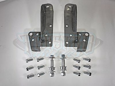 58-64 Impala Front Shock Relocation Kit Bolt-on Relocators with Hardware