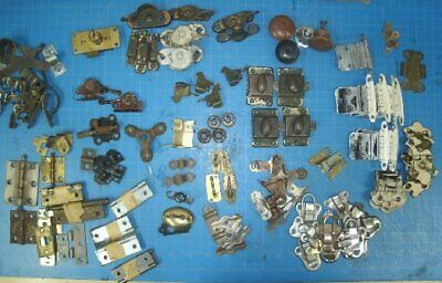 Large Lot of Vintage Cabinet/Chest Hinges & Latches Steam Punk Farm Art Decor
