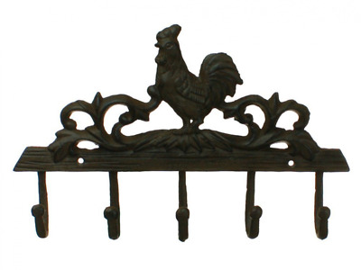 Rooster Coat Hook Wall Decor Rack Iron Plaque Decor New