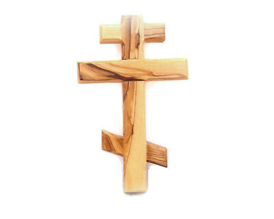 Olive Wood Wall Russian Orthodox Wall Cross Bethlehem Holyland Multi Sizes