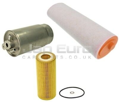 FITS BMW 3 SERIES 318D 122 E90 2005/>On 3PC SERVICE KIT OIL AIR /& FUEL FILTER