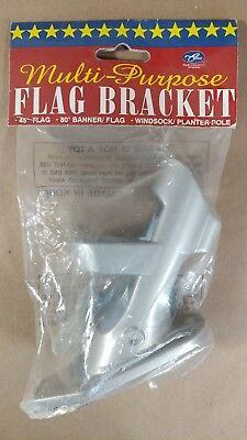 NCE Multi-Purpose 45 Degree Flag Bracket, Banner, Windsock, Planter Pole