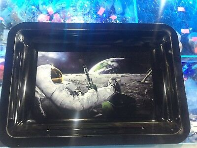 """Spaceman Tobacco Herb Rolling Tray 6""""x9"""" *Authorized Dealer*"""