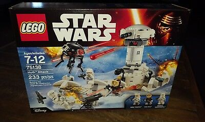Retired Lego set from 2016 Lego Star Wars Hoth Attack 75138 New in sealed box