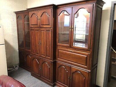 3 PIECE WALL UNIT in CHERRY COLOR WOOD