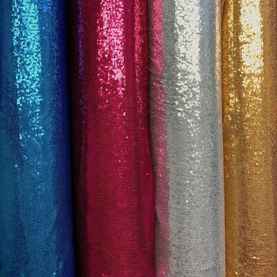 b7572840b All-Over Micro Sequins Starlight on Stretch Mesh Fabric 54