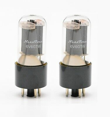 NEW Premium Select NessTone 6V6 Tubes MATCHED PAIR - Superb Tone and Warmth!
