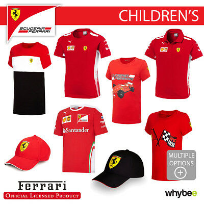 Ferrari F1 Formula One Team Childrens T-Shirts & Polo's Kids Boys Full Range!
