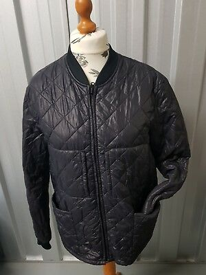 PSJ8 MENS JACKET quilted  COAT SIZE L PURPLE PREOWNED STB6