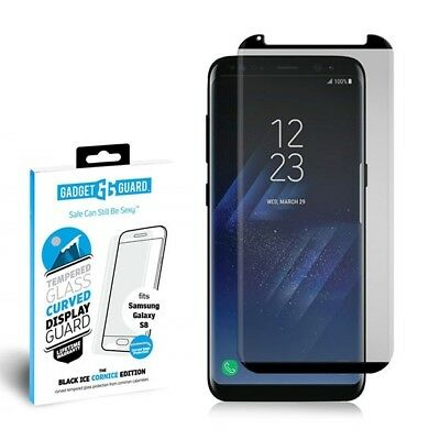 NEW Gadget Guard Black Ice Cornice CURVED Tempered Glass For Samsung S8+ Plus