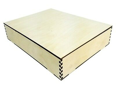 Nice Big Acoustic Wooden Box Kit - 11 x 8.5 x 2.5 inches - Made in USA!