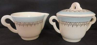 "Vintage Edwin Knowles ""KNO 182"" Creamer & Sugar Bowl with Lid 1950's EUC"