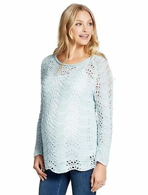 NWT Jessica Simpson Maternity Sweater Light Blue S M