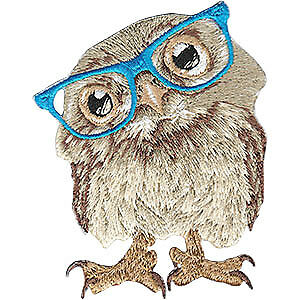 Patch - Animal Club - Owl Iron-On New Gifts Toys p-4484