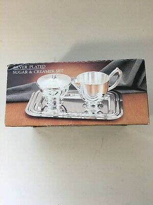 WM Rogers Paul Revere Collection reproduction cream and sugar bowl NIB Style 558