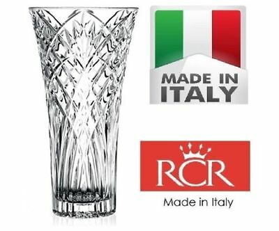 RCR Melodia 30cm Height Italian Crystal Vase Decorative Flower with Box