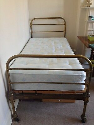 Antique Original Victorian Brass Single Bed Frame in great condition