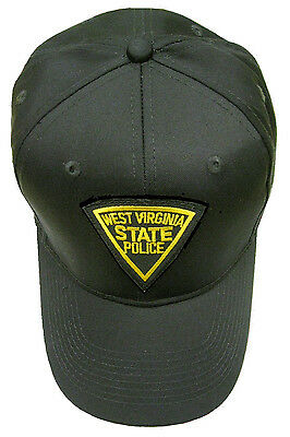 West Virginia State Police Patch Snap Back Ball Cap / Hat - BLACK - OSFA - New