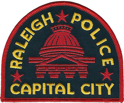 "Raleigh Police Capital City North Carolina Shoulder Patch - 3 3/8""T x 4 1/16""W"