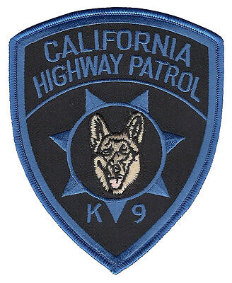 California Highway Patrol K9 Patch - 5 inches tall by 4 inches wide