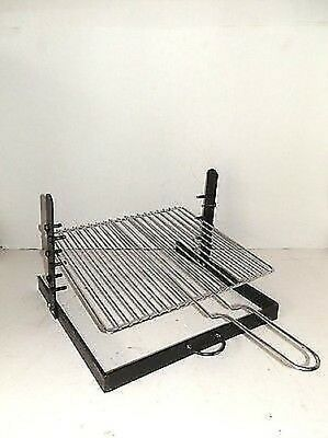 Grid adjustable for ROASTED made of iron and stainless steel BARBECUE