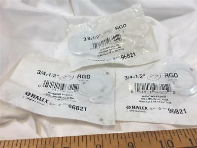 """HALEX 96821 3/4x 1/2'"""" RGD STEEL REDUCING WASHER (LOT OF 3) NEW OLD STOCK"""