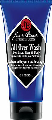 Jack Black All-Over Wash for Face, Hair & Body 10 oz, New & 100% Authentic